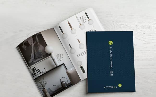 Mesterlyskatalogen designet av Designo Reklame as